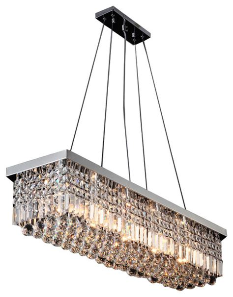New Contemporary Rectangular Crystal Chandelier Modern Rectangular Chandelier
