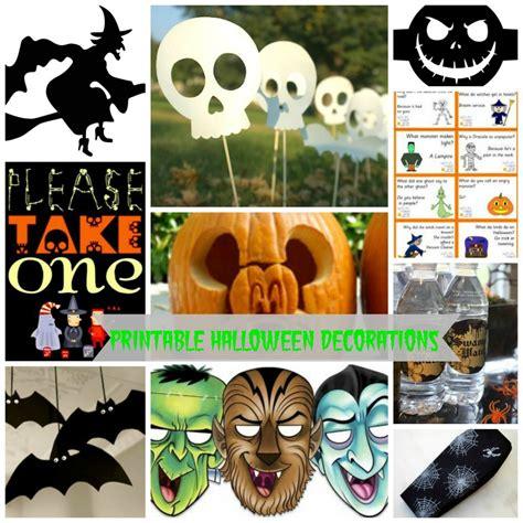 free printable halloween decorations templates scary halloween decorations printable