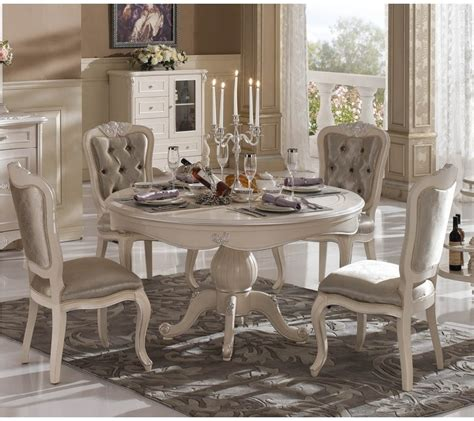 french country dining room tables french country round dining table with candle and white classic furniture design antiquesl com
