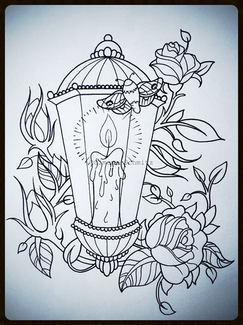 tattoos drawing lantern tattoodesign drawings
