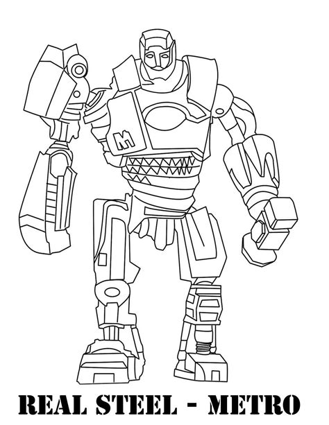 real steel metro coloring pages coloring pages
