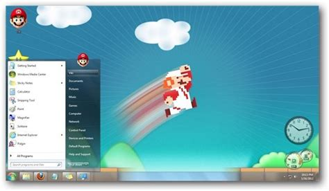windows 7 desktop themes games mario s world theme for windows 7