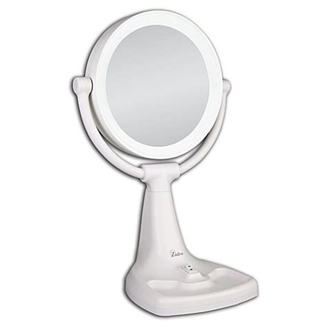 bed bath and beyond makeup mirror zadro 1x 10x magnifying max bright sunlight vanity mirror