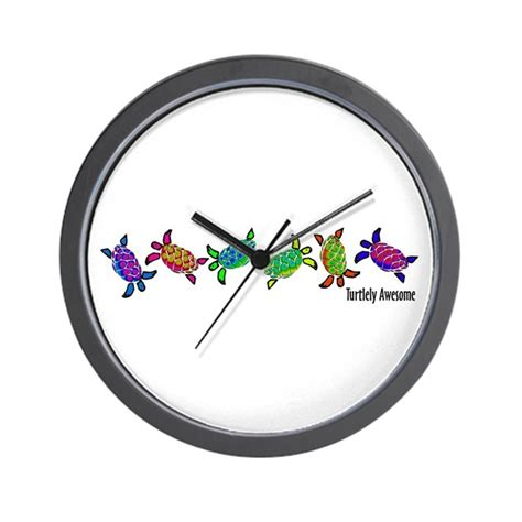 awesome clocks turtlely awesome wall clock by c2gdesigns2