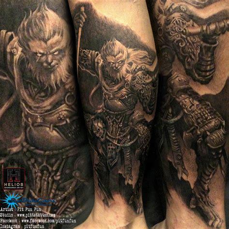 monkey king tattoo monkey king