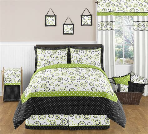 black lime green teen full queen size kid bedding