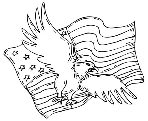 Patriotic Eagle Coloring Pages - GetColoringPages.com Eagle Coloring Pages Free