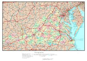map of with all cities large detailed administrative map of virginia state with
