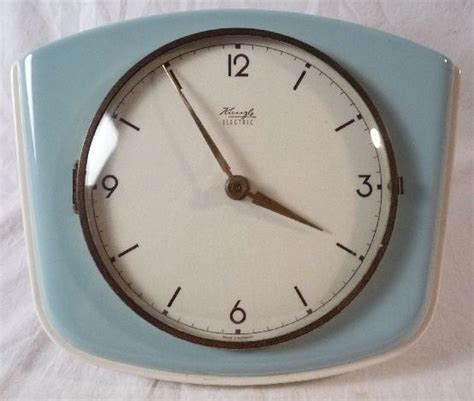 60s clock 60s design original kienzle electric kitchen clock wall clock made