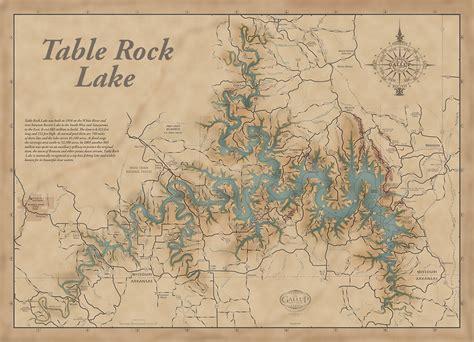 map of table rock lake laminatoff