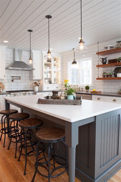 Farmhouse Island Kitchen | 25 awe inspiring kitchen island ideas blending beauty with