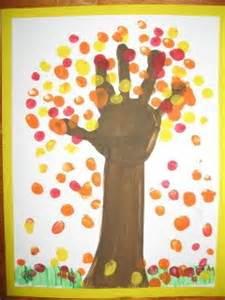 Make adorable fall hand tree art love it