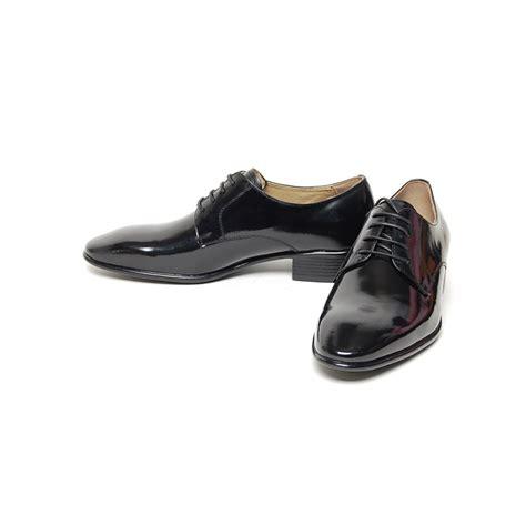 plain black oxford shoes s plain toe black leather open lacing med heel oxford