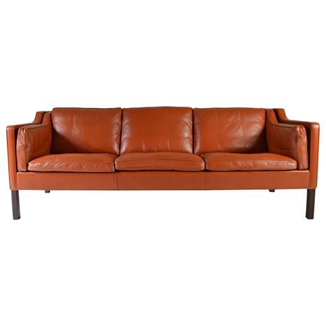 cognac leather sectional cognac leather sofa by b 248 rge mogensen for fredericia