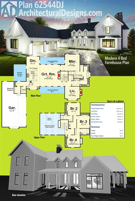 modern farmhouse open floor plans 63 best farmhouse plans images on pinterest modern