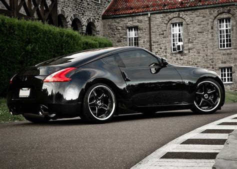 nissan 370z custom rims black nissan 370z with vertini drift wheels jpg 838 215 599