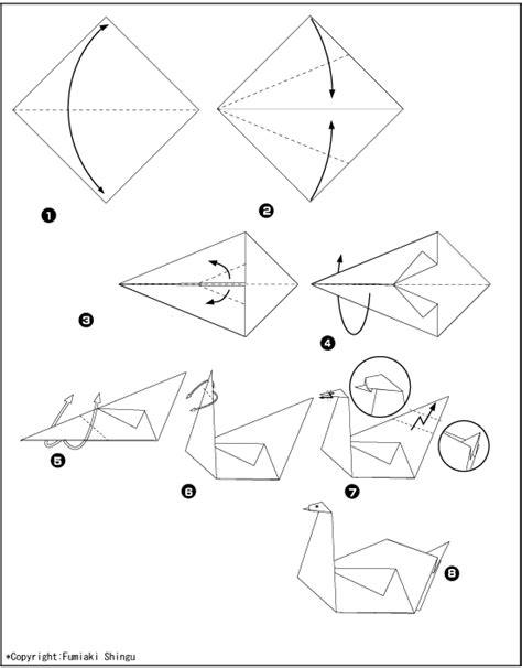 Origami Schwan - origami schwan faltanleitung dekoking