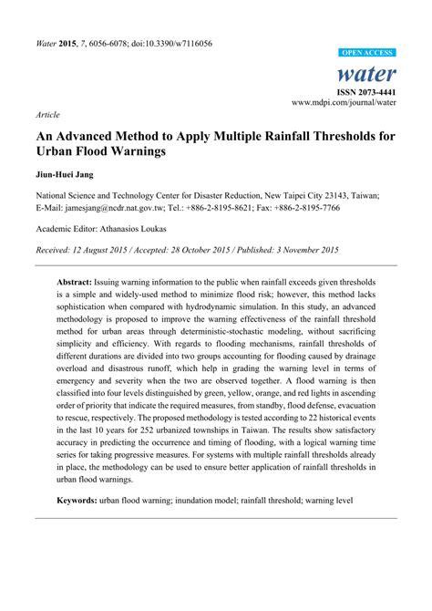 (PDF) An Advanced Method to Apply Multiple Rainfall
