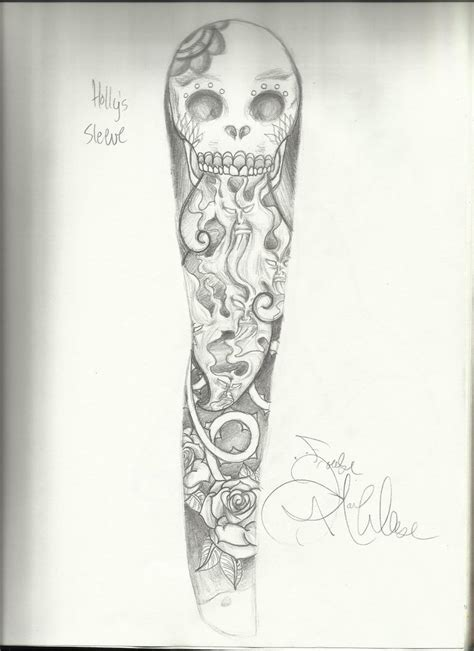 sleeve tattoo drawing designs sleeve for by draw me to on deviantart