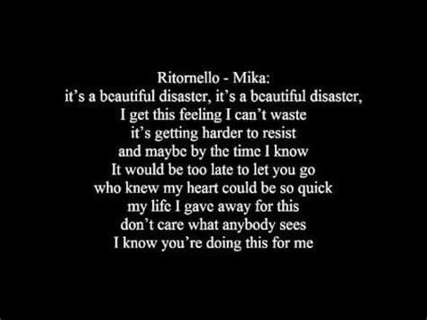 beautiful testo fedez beautiful disaster ft testo lyrics