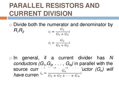 parallel resistors current division parallel resistors divide current in the inverse ratio of their resistances 28 images elect