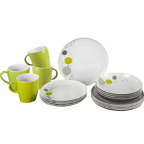 dinner set brunner premium 100 melamine dinner set 16 pc space anti