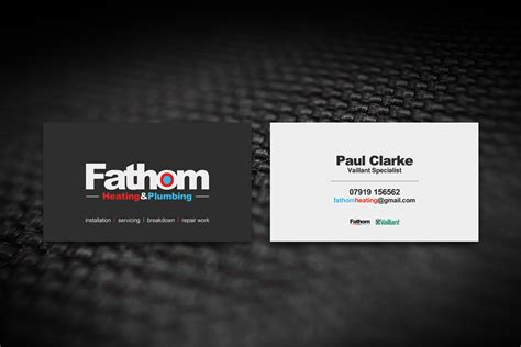 Plumbing And Heating Business Cards by 14 Professional Business Card Designs For A Business In