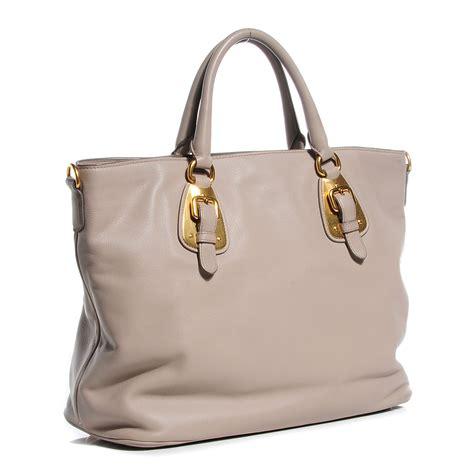 Prada Soft 9 prada soft calf tote prada grey leather bag