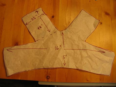Yarness Pattern | patterns for harnesses for small dogs pattern piece1