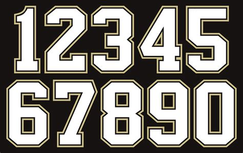 Printable Football Jersey Numbers | numbers new calendar template site
