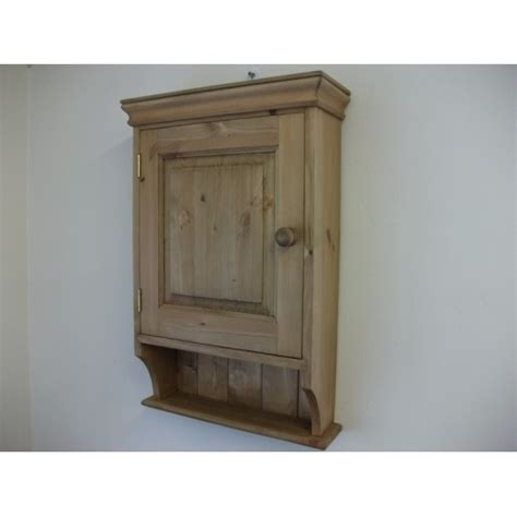 pine panelled door bathroom cabinet w47cm