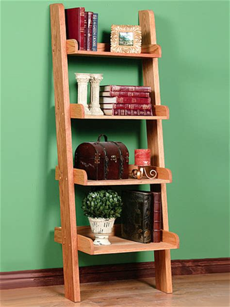 diy leaning ladder bookshelve omahdesigns net