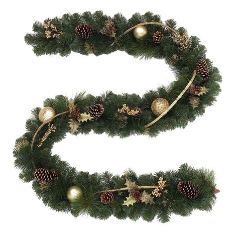 9 ft unlit golden holiday artificial garland 2173430hd