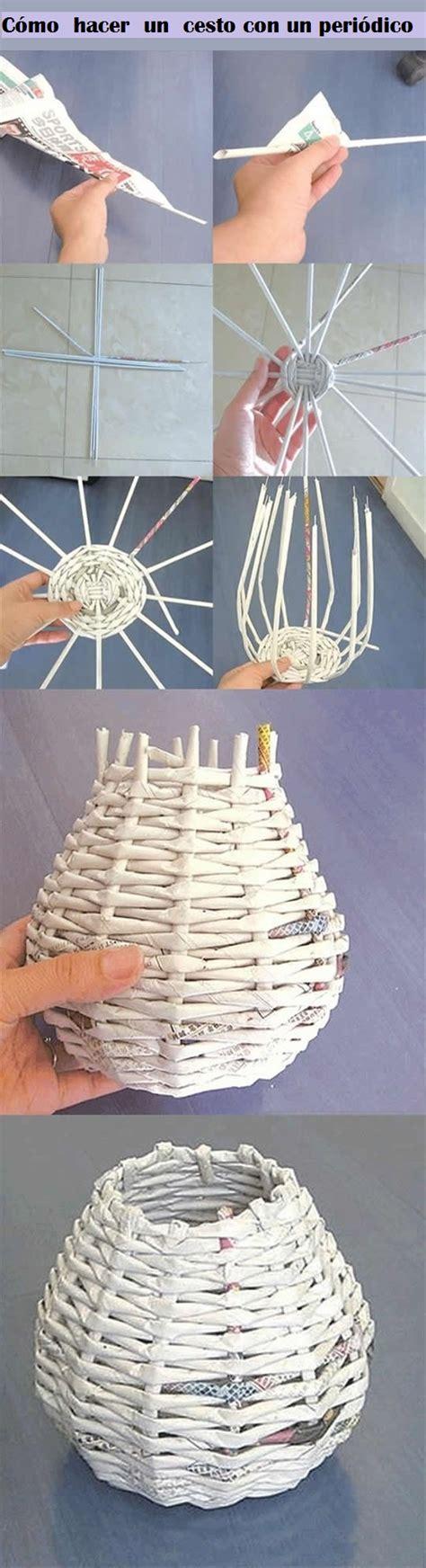 New Paper Crafts - diy y manualidades c 243 mo hacer un cesto con un peri 243 dico