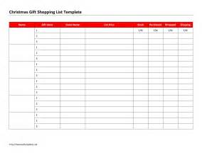 Xmas List Template Search Results For Gift List Template Calendar 2015
