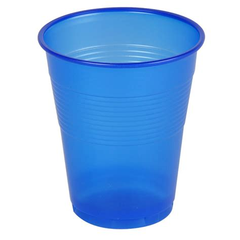 plastic cup 150 ml blue