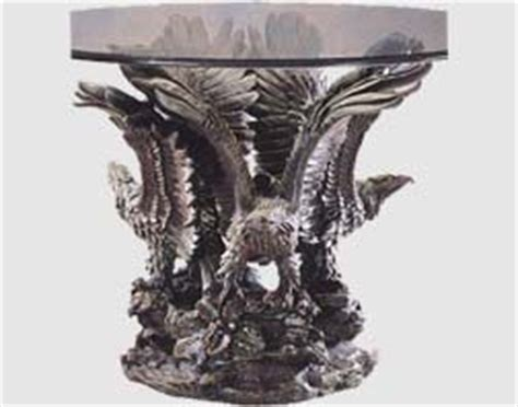 3 eagle bronze colored base coffee end table