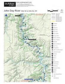 day oregon map day river clarno to cottonwood bridge whitewater