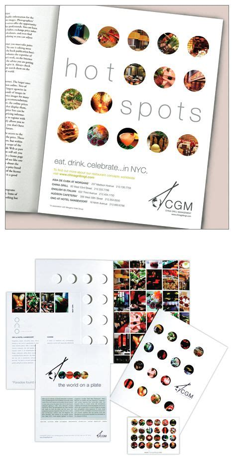 book layout design sles china grill ad sales kit by lauren dicolli hooke via