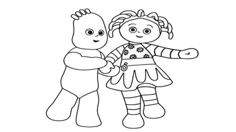 free coloring pages of iggle piggle upsy daisy