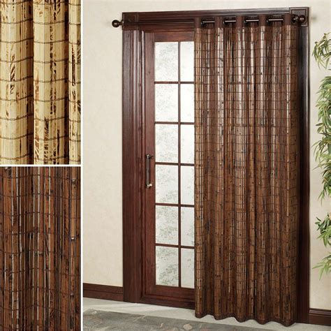 Wooden curtains for doorway