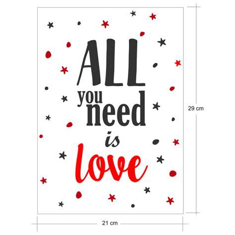 all you need is 8408163310 all you need is love vinilo decorativo rom 225 ntico y amoroso de ubika vinilo