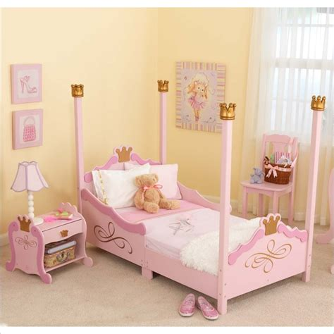 Kidkraft Bedroom Furniture Kidkraft Princess Pink Wood Toddler Bed 2 Bedroom Set 76121 Pkg