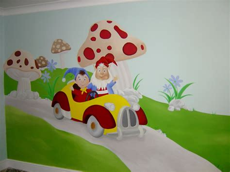 cartoon wall painting in bedroom kids wall mural
