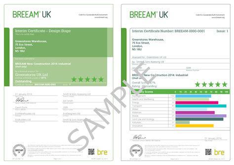design application uk appendix f exles of breeam uk new construction