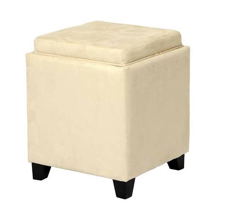 microfiber storage ottoman with tray microfiber square storage ottoman with serving tray