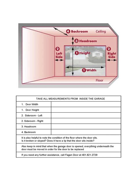 measuring your garage door fagan door