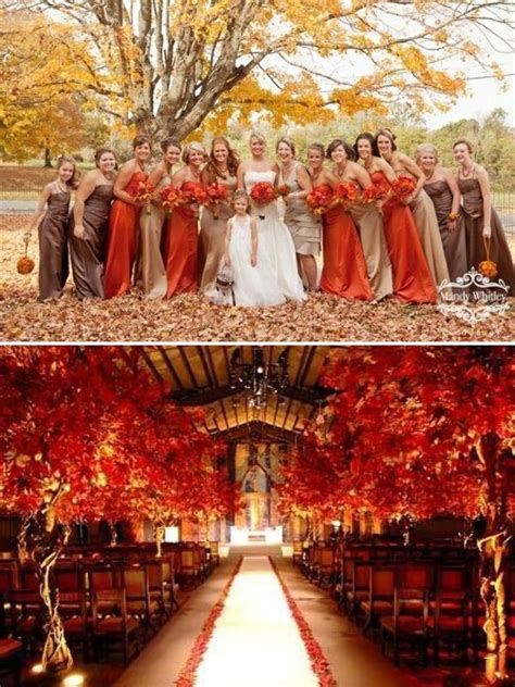 Wedding Ideas For Fall by Fall Wedding Colors Fall Wedding Inspiration Color