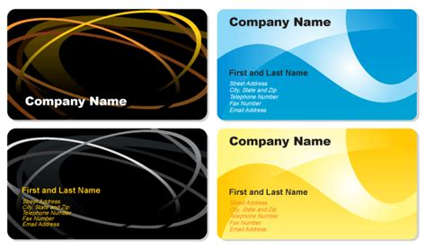name card design template cdr business cards designs free vector free