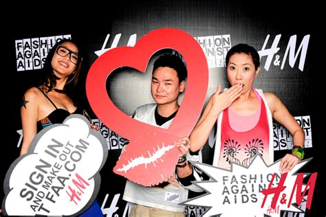 On Our Radar Hm Launches Fashion Against Aids by Hello Singapore Photo Booth